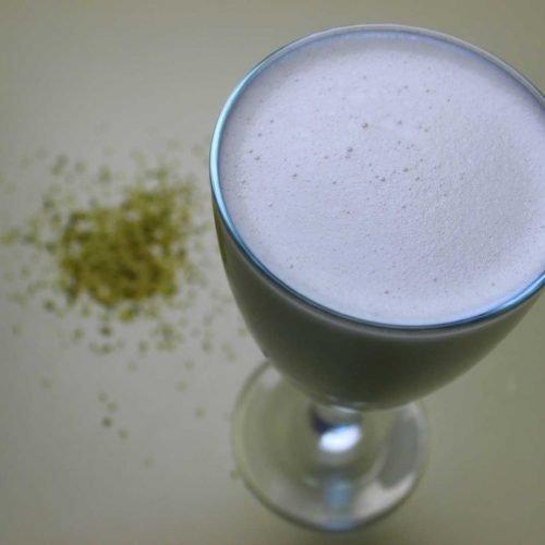 hemp milk glass