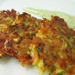 hemp zucchini fritters