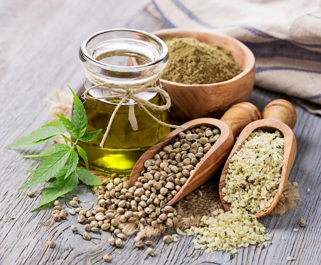 hemp oil seeds scoop